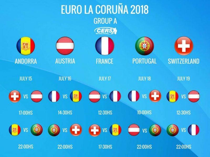 Spielplan Rollhockey Europameisterschaft 2018